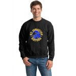 Black Gildan Heavy Blend Crewneck Sweatshirt